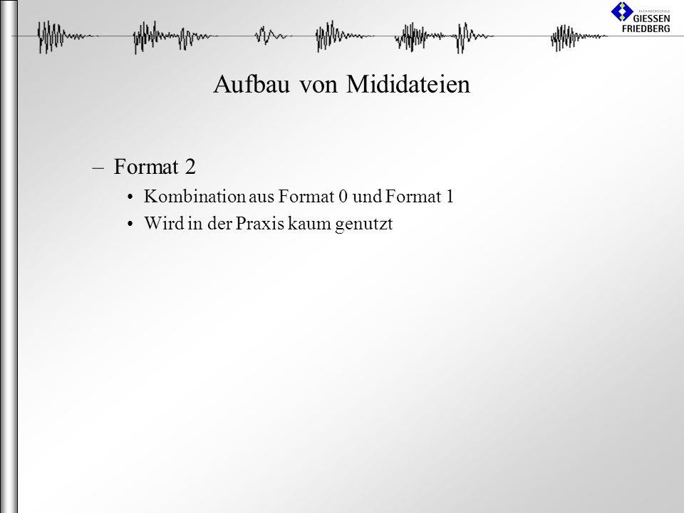 Aufbau von Mididateien