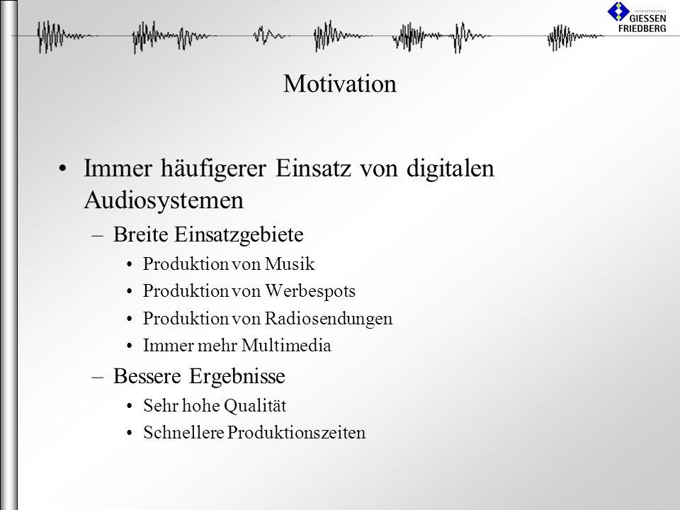 Immer häufigerer Einsatz von digitalen Audiosystemen