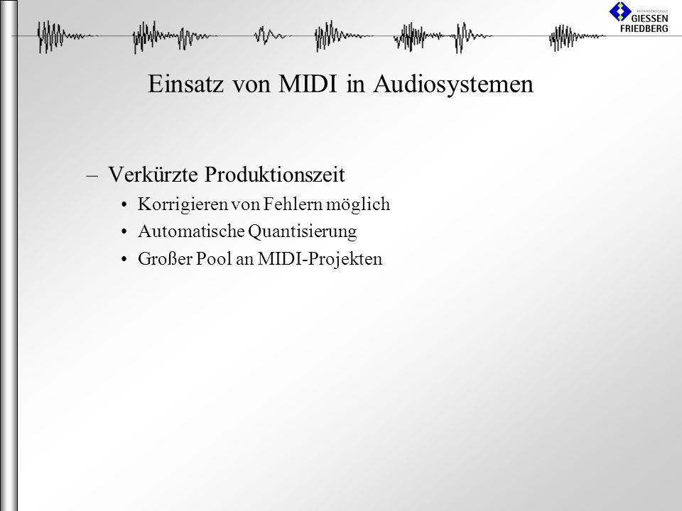Einsatz von MIDI in Audiosystemen