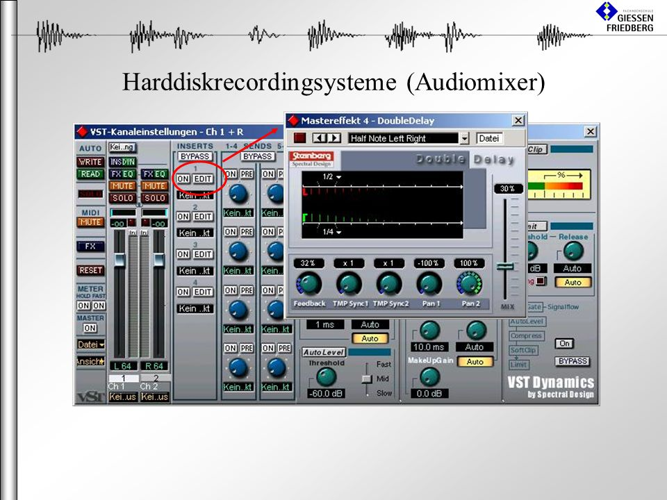 Harddiskrecordingsysteme (Audiomixer)