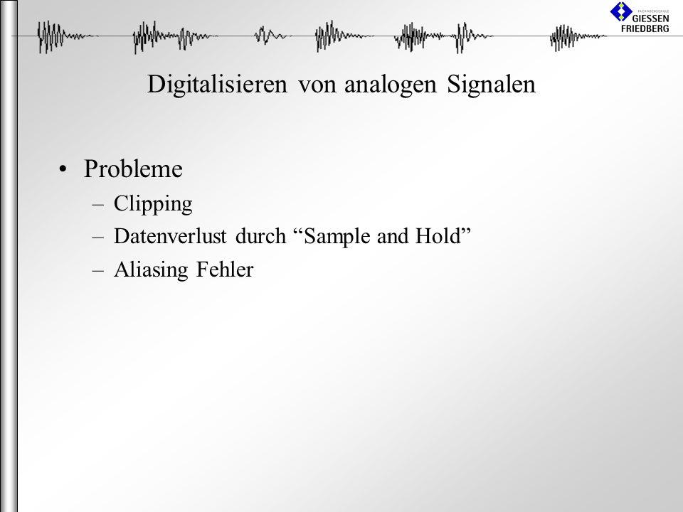 Digitalisieren von analogen Signalen