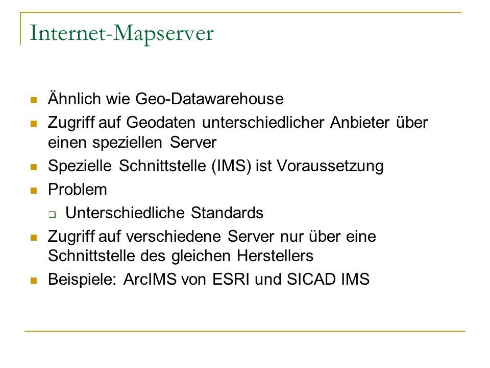 Internet-Mapserver Ähnlich wie Geo-Datawarehouse