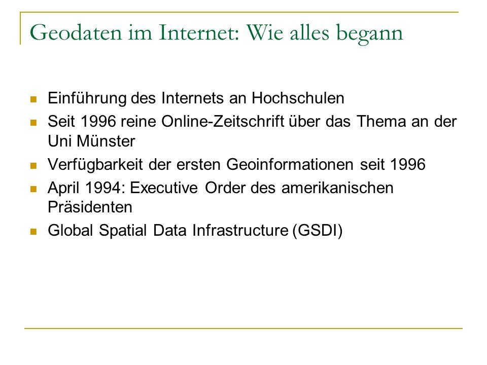 Geodaten im Internet: Wie alles begann