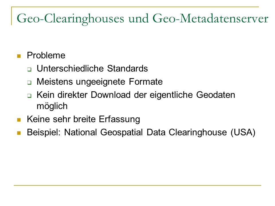 Geo-Clearinghouses und Geo-Metadatenserver