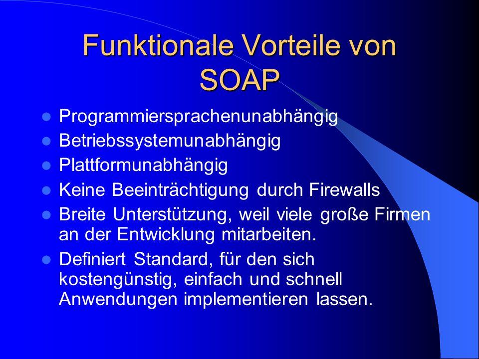 Funktionale Vorteile von SOAP