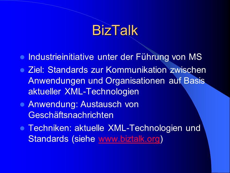 BizTalk Industrieinitiative unter der Führung von MS