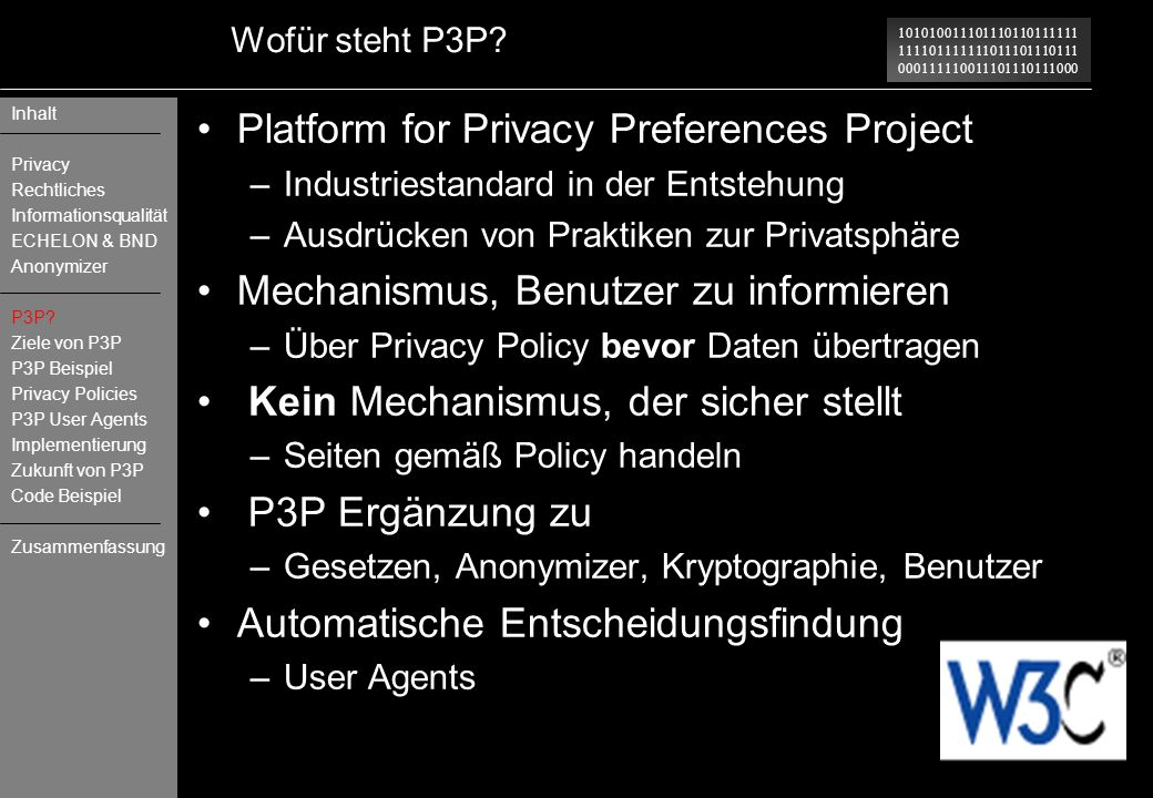 Platform for Privacy Preferences Project