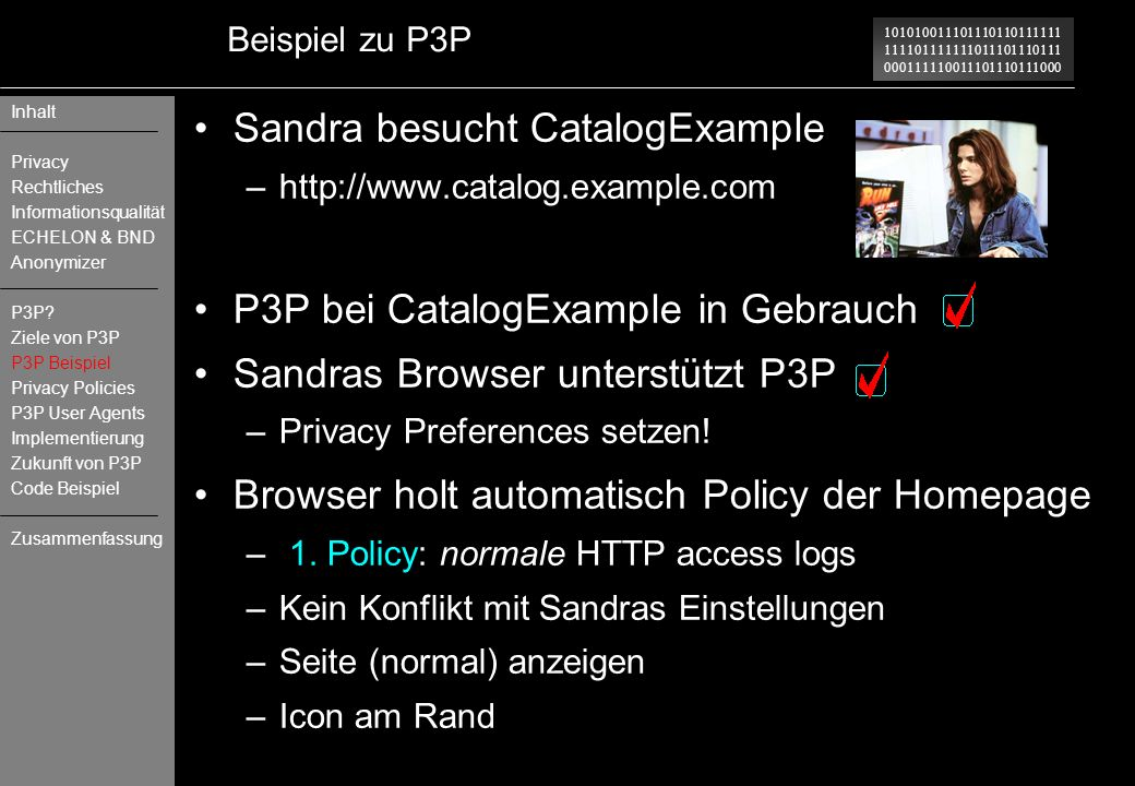 Sandra besucht CatalogExample