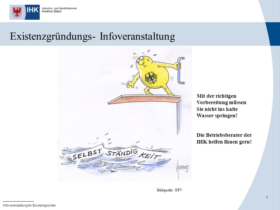 Existenzgründungs- Infoveranstaltung