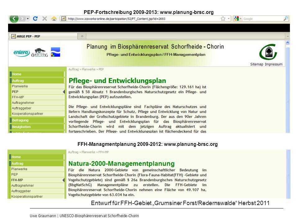 """Entwurf für FFH-Gebiet """"Grumsiner Forst/Redernswalde Herbst 2011"""