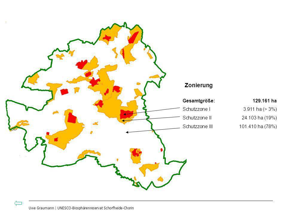 Zonierung Gesamtgröße: 129.161 ha Schutzzone I 3.911 ha (> 3%)