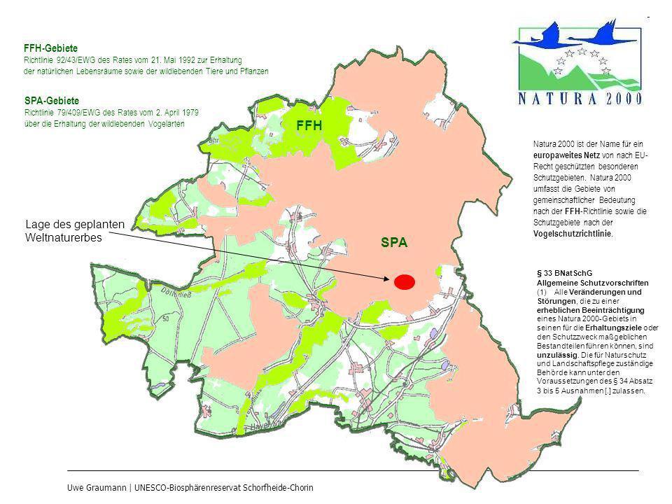 FFH SPA FFH-Gebiete SPA-Gebiete Lage des geplanten Weltnaturerbes