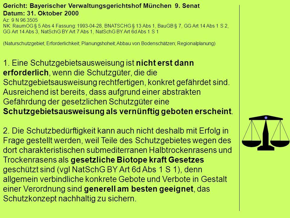 Gericht: Bayerischer Verwaltungsgerichtshof München 9. Senat