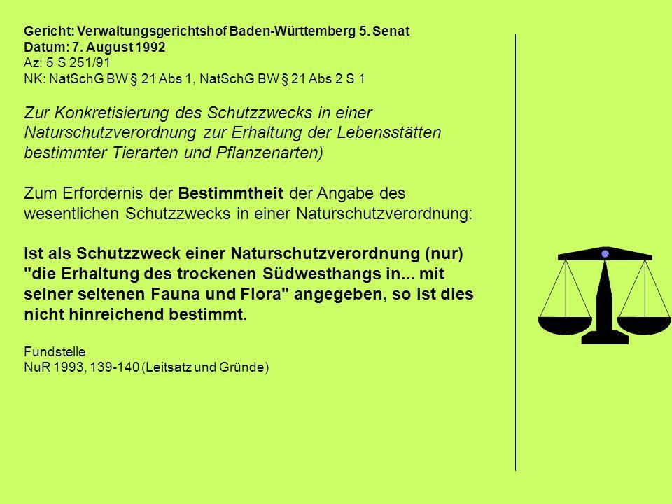 Gericht: Verwaltungsgerichtshof Baden-Württemberg 5. Senat