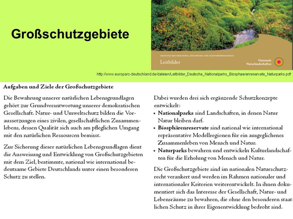 Großschutzgebiete http://www.europarc-deutschland.de/dateien/Leitbilder_Deutsche_Nationalparks_Biosphaerenreservate_Naturparks.pdf.