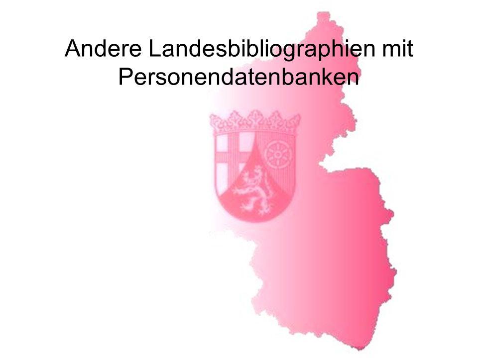 Andere Landesbibliographien mit Personendatenbanken