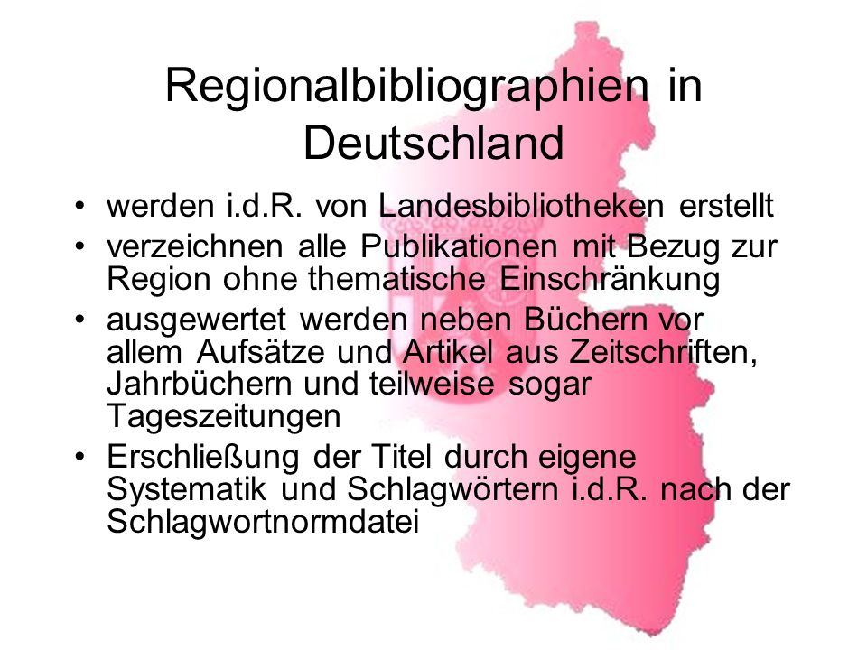 Regionalbibliographien in Deutschland