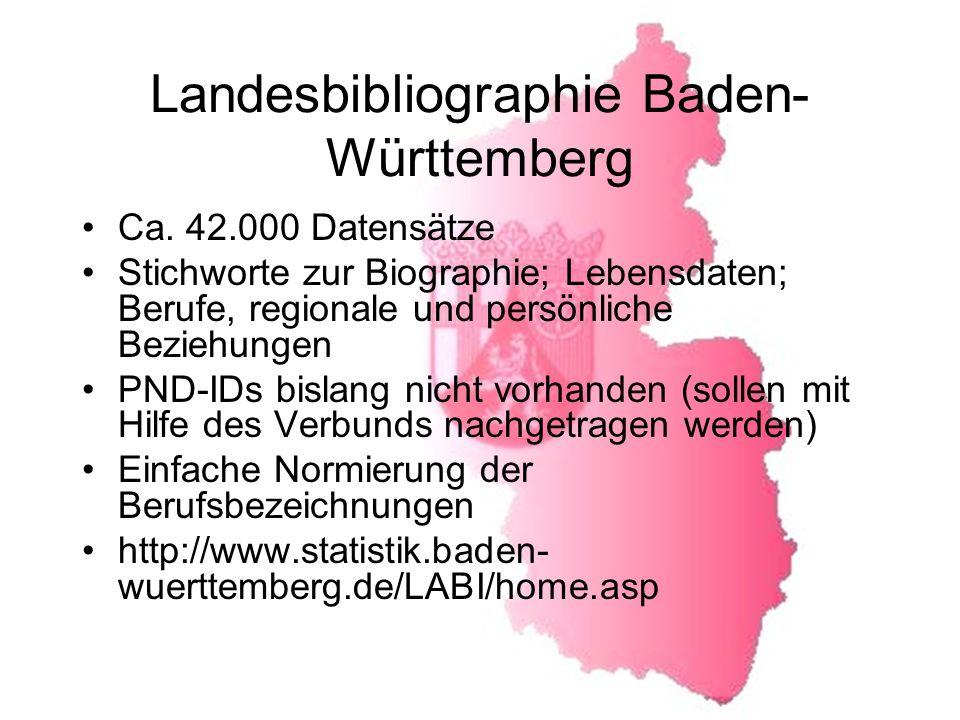 Landesbibliographie Baden-Württemberg