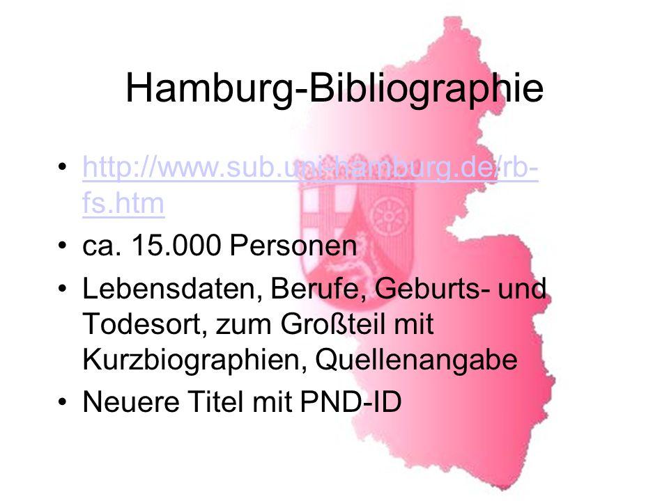 Hamburg-Bibliographie