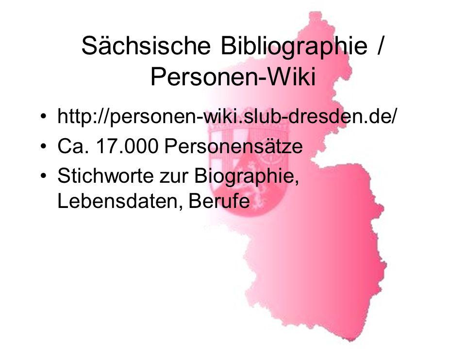 Sächsische Bibliographie / Personen-Wiki
