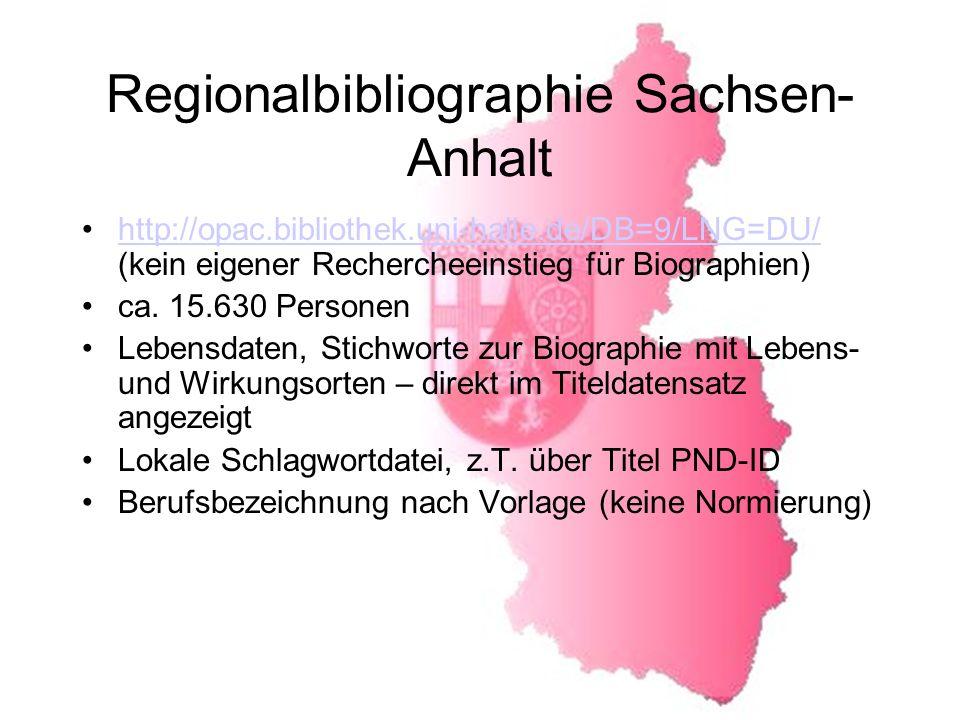 Regionalbibliographie Sachsen-Anhalt