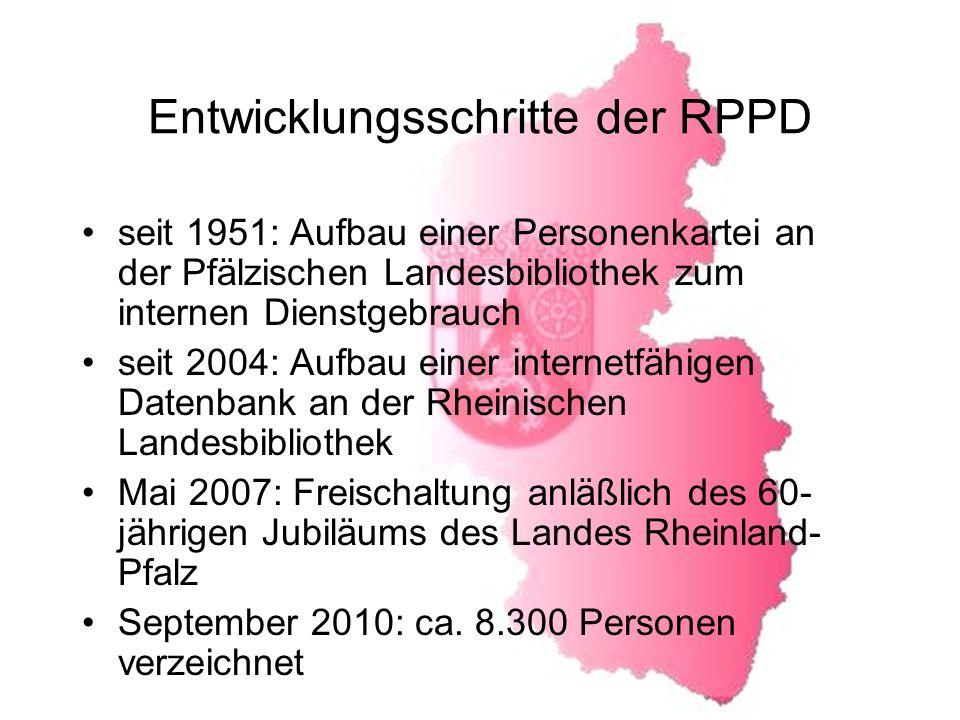 Entwicklungsschritte der RPPD