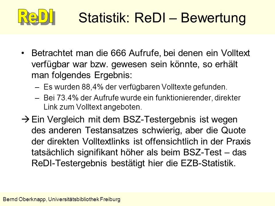 Statistik: ReDI – Bewertung