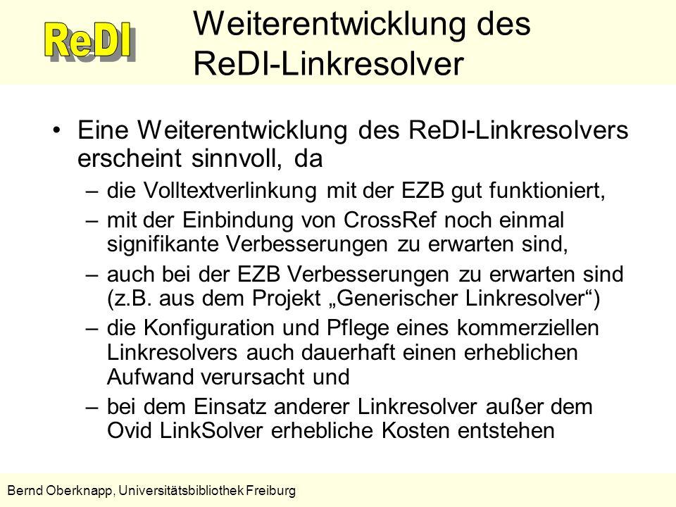 Weiterentwicklung des ReDI-Linkresolver
