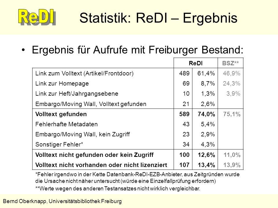 Statistik: ReDI – Ergebnis