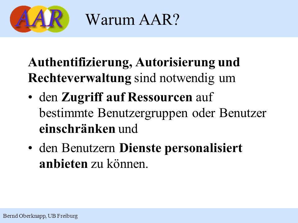 Warum AAR Authentifizierung, Autorisierung und