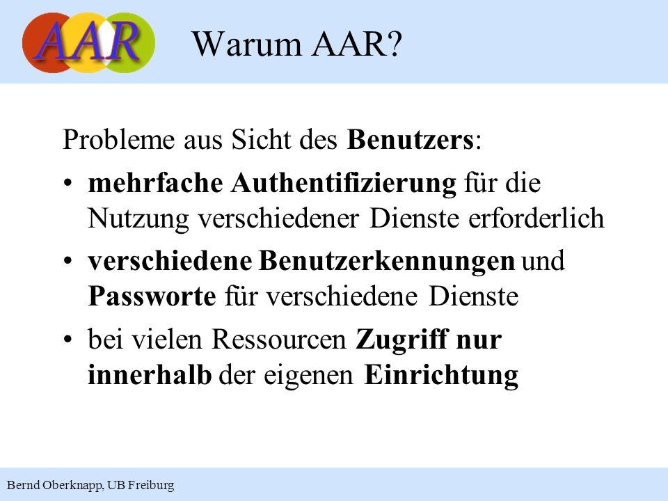 Warum AAR Probleme aus Sicht des Benutzers: