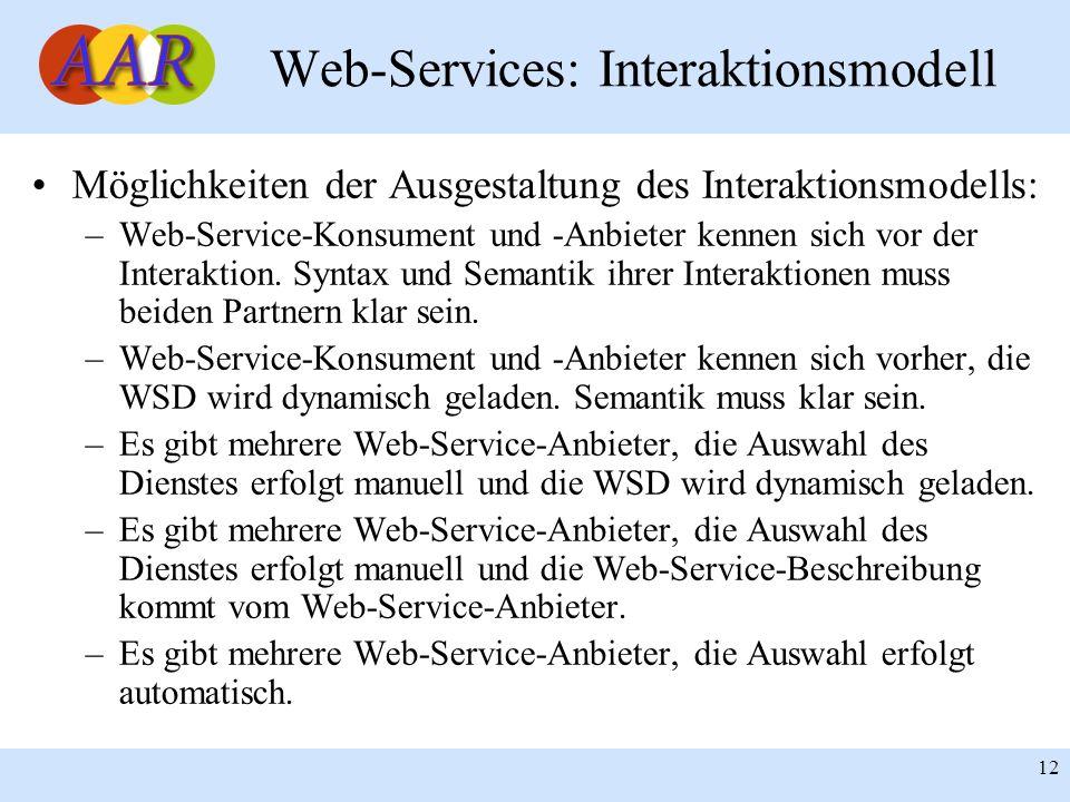 Web-Services: Interaktionsmodell