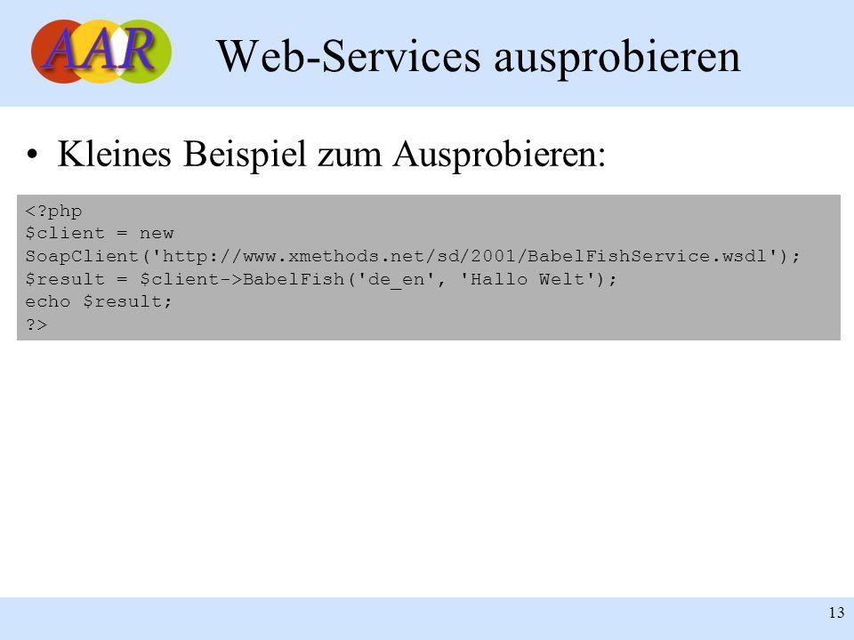 Web-Services ausprobieren
