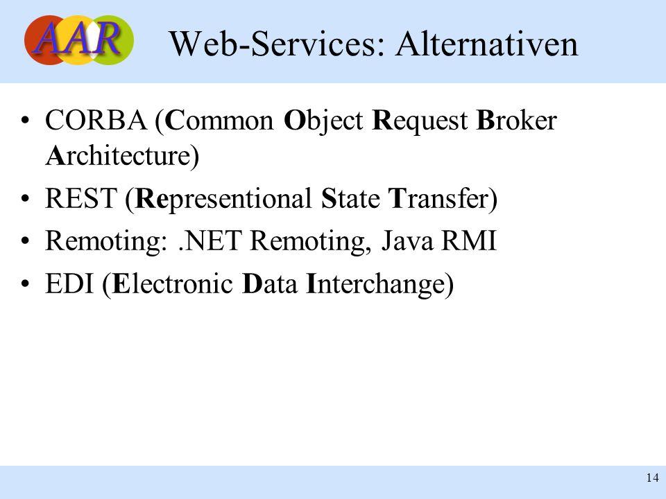 Web-Services: Alternativen
