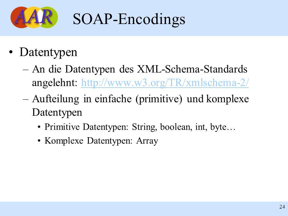 SOAP-Encodings Datentypen