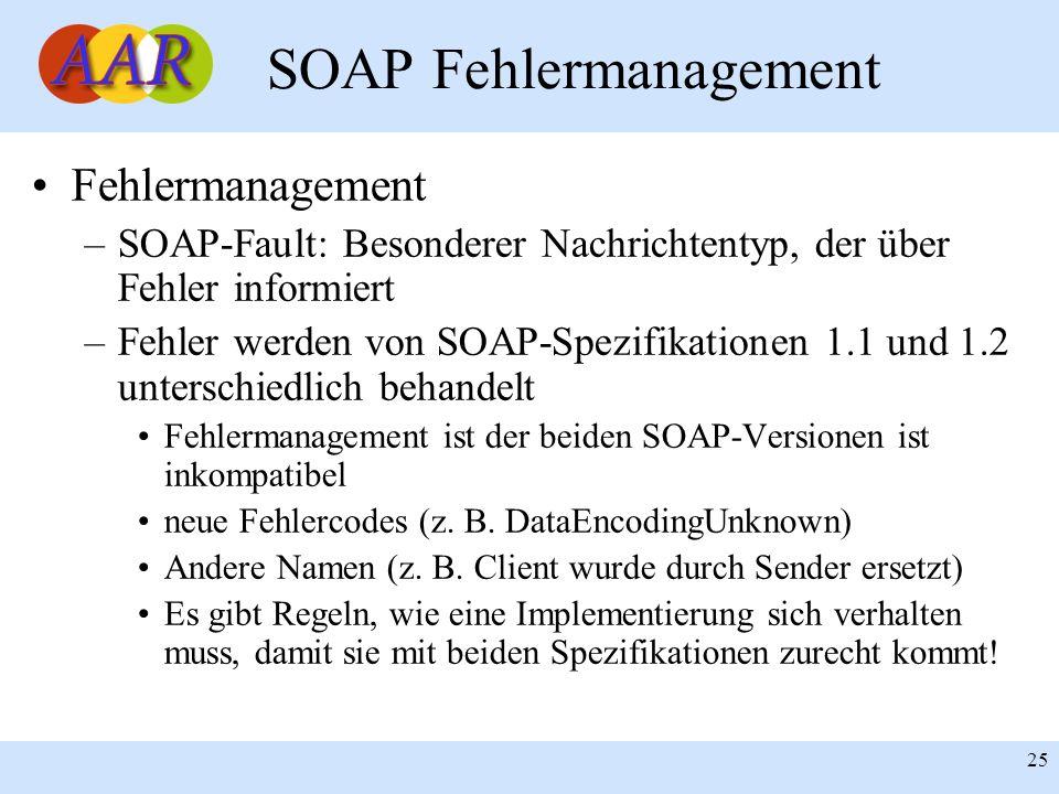 SOAP Fehlermanagement
