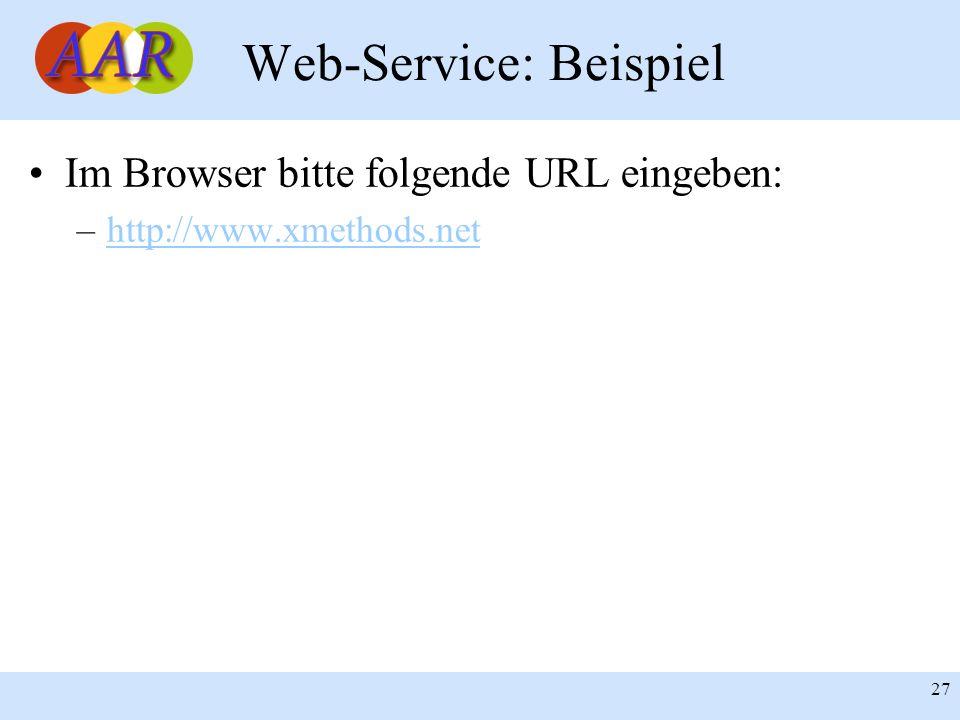 Web-Service: Beispiel