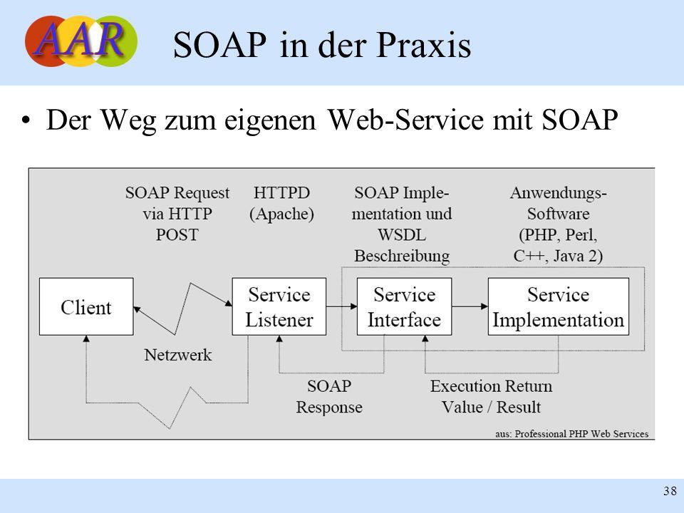 SOAP in der Praxis Der Weg zum eigenen Web-Service mit SOAP 38