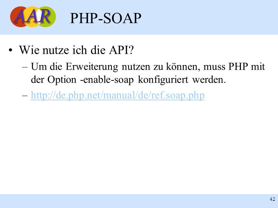 PHP-SOAP Wie nutze ich die API