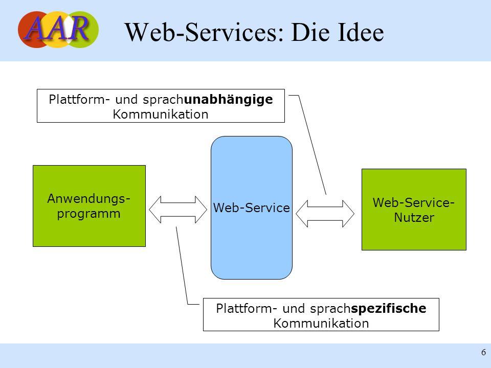 Web-Services: Die Idee