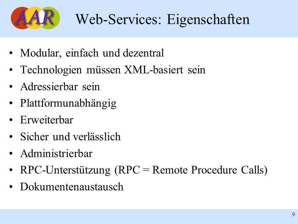 Web-Services: Eigenschaften