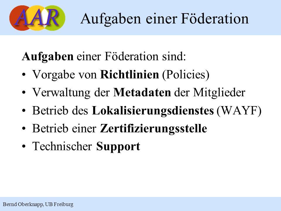 Aufgaben einer Föderation