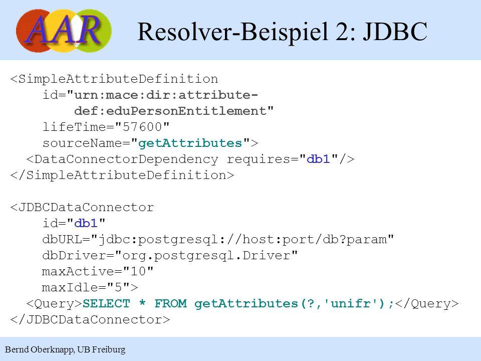 Resolver-Beispiel 2: JDBC