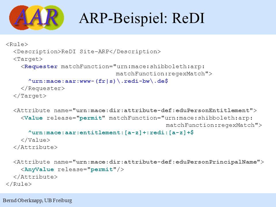 ARP-Beispiel: ReDI <Rule>