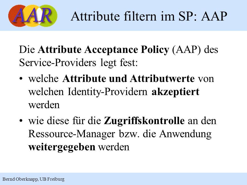 Attribute filtern im SP: AAP