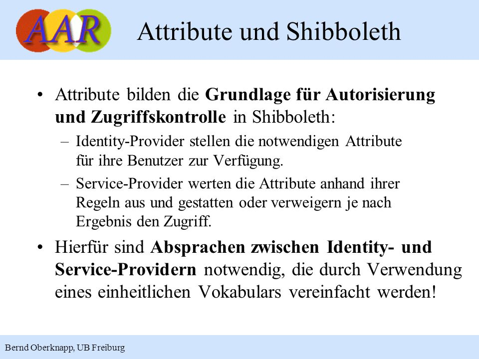 Attribute und Shibboleth