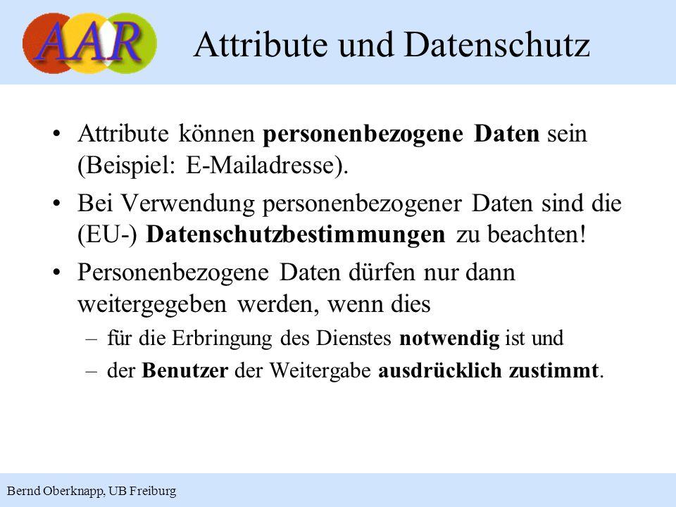 Attribute und Datenschutz