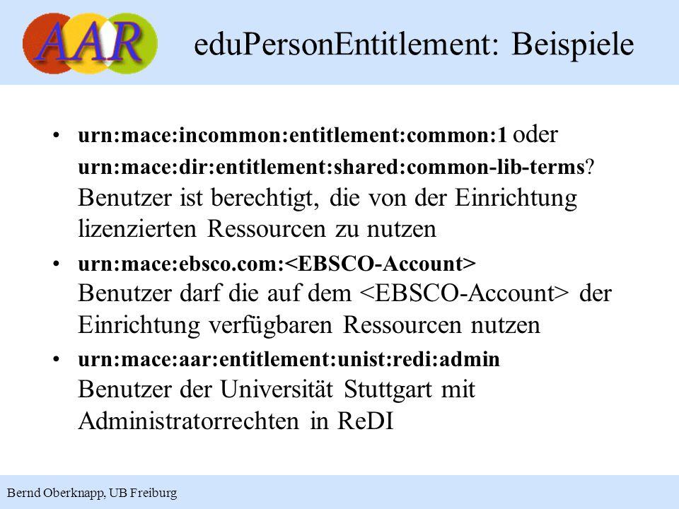 eduPersonEntitlement: Beispiele