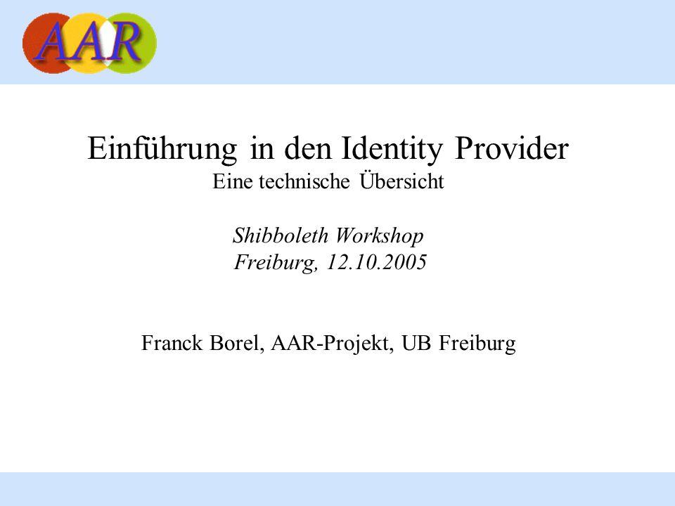 Einführung in den Identity Provider