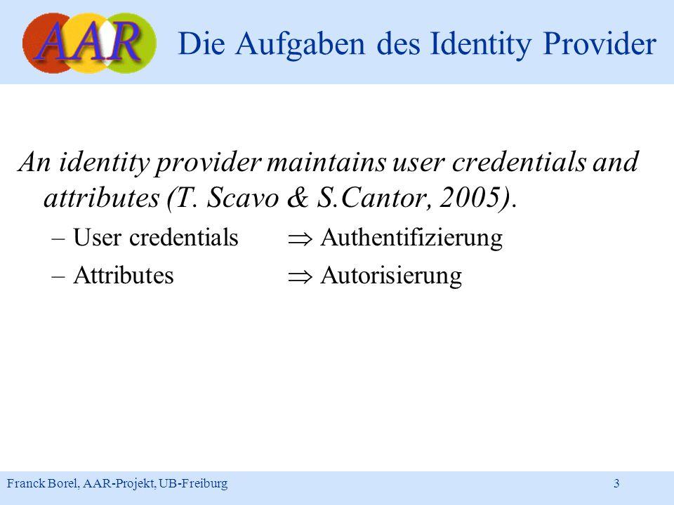Die Aufgaben des Identity Provider